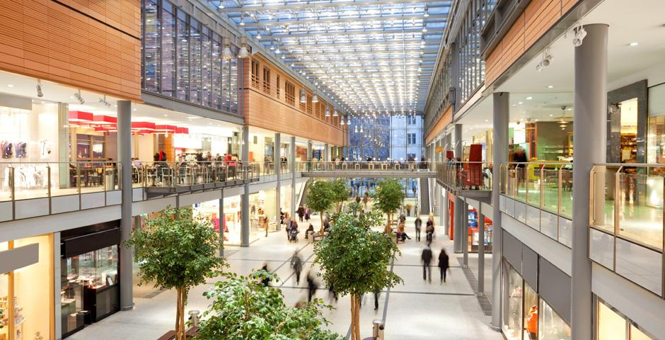Indoor Shopping Mall or Retail Center with Multiple Levels